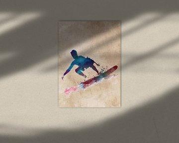 Surfer Sport Kunst #Surfer #Sport von JBJart Justyna Jaszke