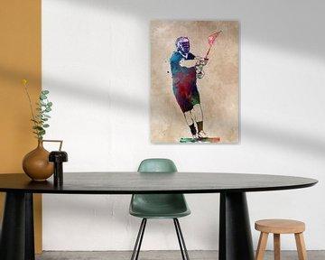 Lacrosse Sport Kunst #Lacrosse #Sport von JBJart Justyna Jaszke