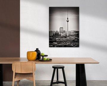 Zwart-wit fotografie: Berlijn Skyline van Alexander Voss