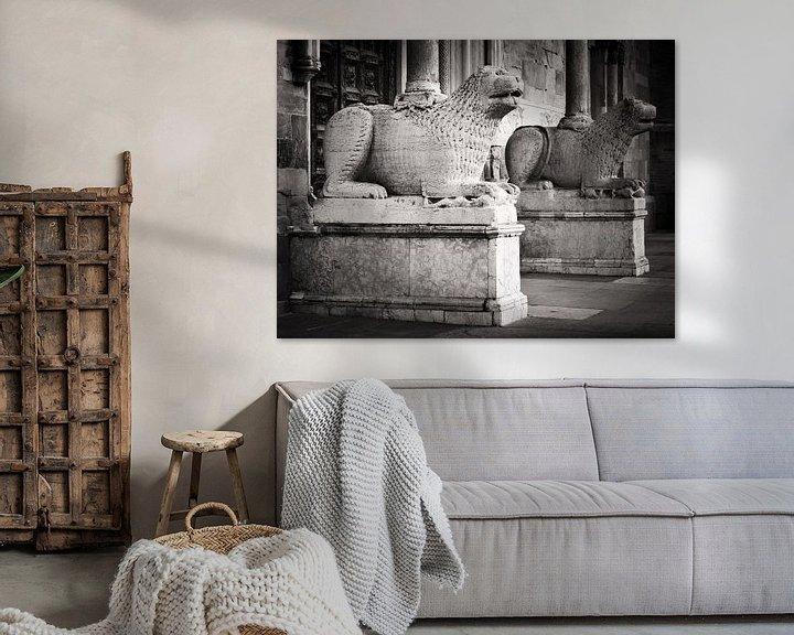 Sfeerimpressie: Zwart-wit fotografie: Kathedraal van Parma van Alexander Voss