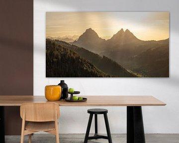 Mythen in autumn light van Pascal Sigrist - Landscape Photography