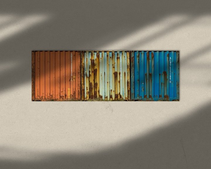 Beispiel: Seecontainer mit Rost von Peter Bolman