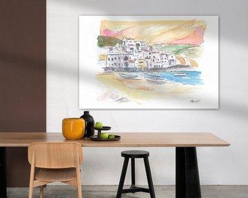 Herrlicher Blick auf den Hafen von Ischia bei strahlendem Sonnenschein von Markus Bleichner