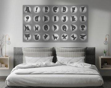 Alfabet nr.4 monochroom van Leopold Brix