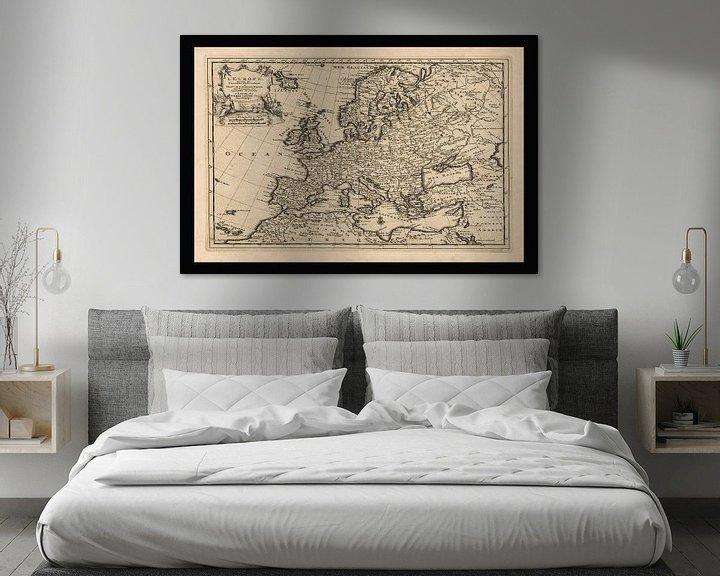 Sfeerimpressie: Oude kaart van Europa van omstreeks 1725 van Gert Hilbink