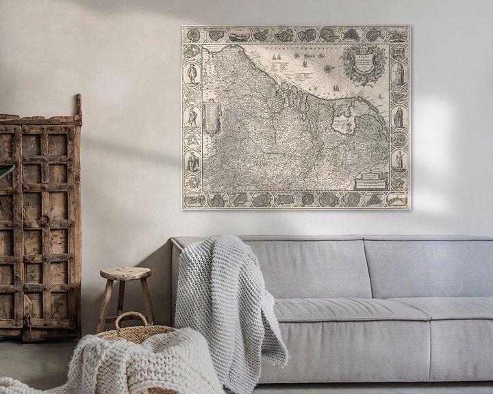 Sfeerimpressie: Kaart van de Nederlanden van omstreeks 1631 van Gert Hilbink
