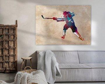 hockey player #hockey #sport van JBJart Justyna Jaszke