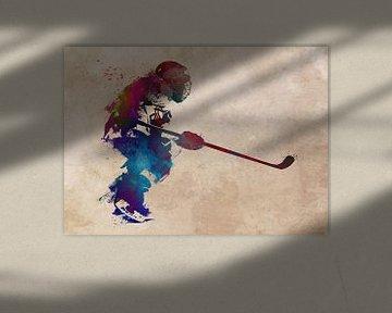 hockeyspeler #hockey #sport van JBJart Justyna Jaszke
