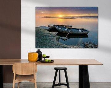 Zonsopkomst en Hollands Polderlandschap van Original Mostert Photography