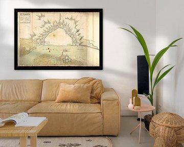 Oude kaart van Nijmegen van omstreeks 1702 van Gert Hilbink