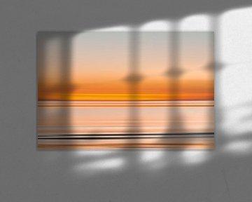 zonsondergang aan de Zeeuwse kust van Klaartje Majoor