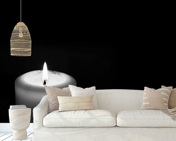 Sfeerimpressie behang: Kaars van Frank Herrmann
