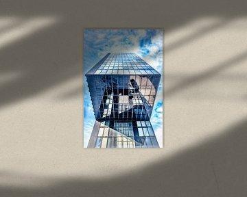 Spiegelung in Glas Fassade des Luxushotels Hyatt Regency in Düsseldorf Medienhafen von Dieter Walther