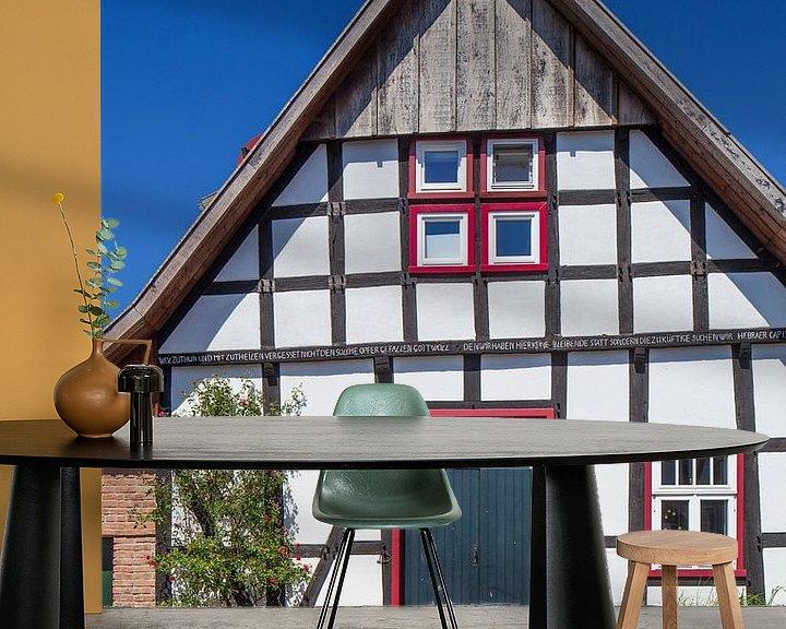 Beispiel fototapete: Fachwerkhaus, Stemwede-Levern von Torsten Krüger