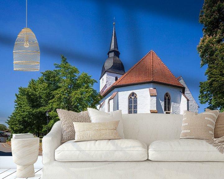 Beispiel fototapete: Kirche, Stemwede-Levern, Gemeinde Stemwede, Nordrhein-Westfalen, Deutschland, Europa von Torsten Krüger
