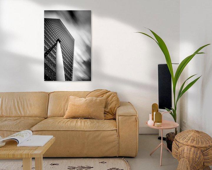 Sfeerimpressie: KPN gebouw zwart wit van Prachtig Rotterdam
