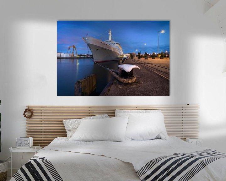 Sfeerimpressie: SS Rotterdam in het blauwe uurtje van Prachtig Rotterdam