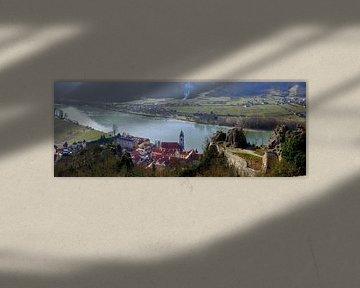 Dürnstein en de Donauvallei van Leopold Brix