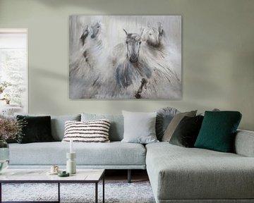 Gemälde einer Pferdeherde. von Louis en Astrid Drent Fotografie