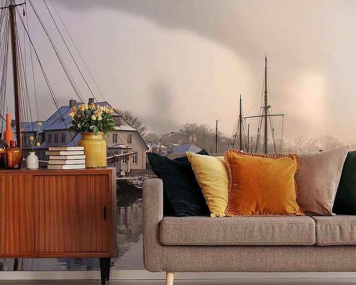 Beispiel fototapete: Ein Wintermorgen im Hafen von Werner Reins