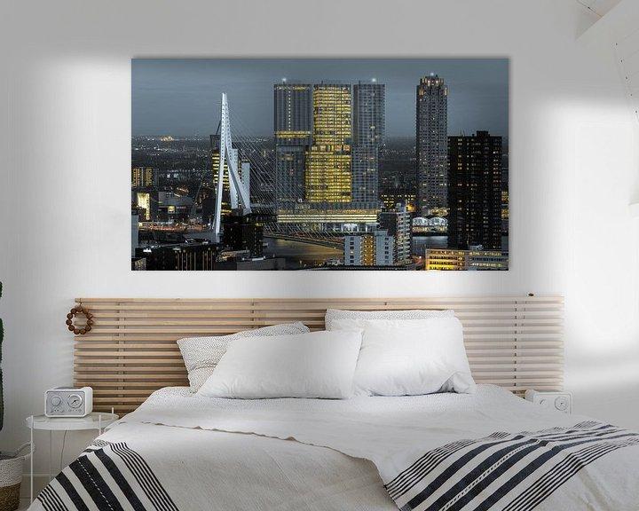 Sfeerimpressie: Kop van Zuid skyline van Prachtig Rotterdam