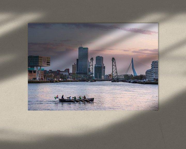 Sfeerimpressie: Kanoe in de Koningshaven van Prachtig Rotterdam