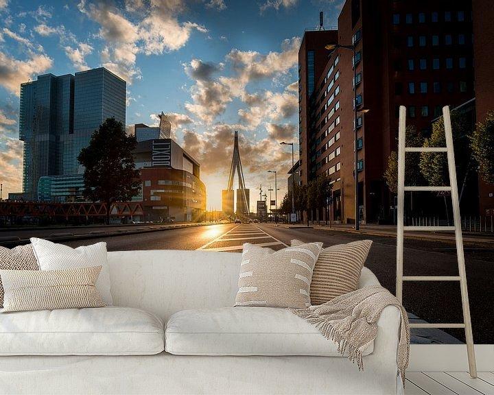 Sfeerimpressie behang: Kop van Zuid van Prachtig Rotterdam