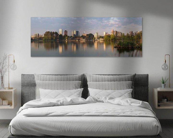 Sfeerimpressie: Skyline vanaf Kralingse plas van Prachtig Rotterdam