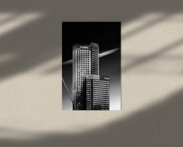 Sfeerimpressie: Maastoren in zwart wit van Prachtig Rotterdam
