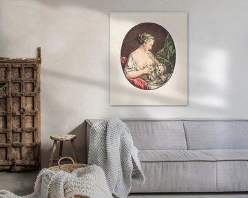 Venus (oben ohne) mit Tauben, Jean-François Janinet von Atelier Liesjes