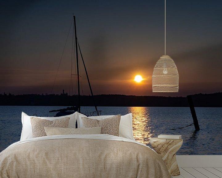 Beispiel fototapete: Sonnenuntergang am Ammersee von Andreas Müller