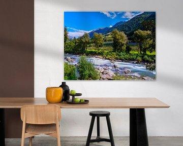 Uitzicht in de Passeier-vallei van flotografie