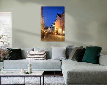 Olde Hansa House, Benedenstad, Oude Stad , bij avondschemering, Tallinn, Estland, Europa