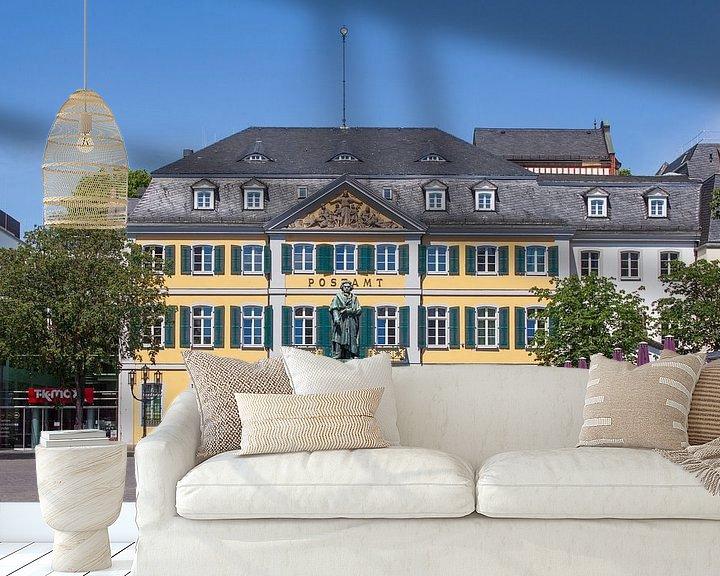 Beispiel fototapete: Beethoven-Denkmal und Hauptpostamt, Ehemaliges Fürstenbergisches Palais am Münsterplatz, Bonn, Nordr von Torsten Krüger