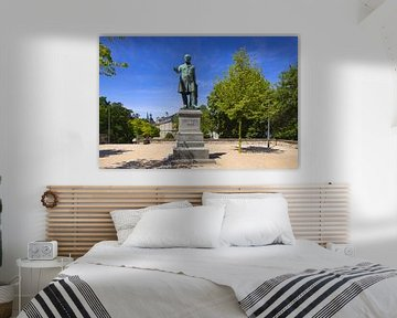 Ernst-Moritz-Arndt Monument, Oude Douane, Bonn, Noordrijn-Westfalen, Duitsland, Europa