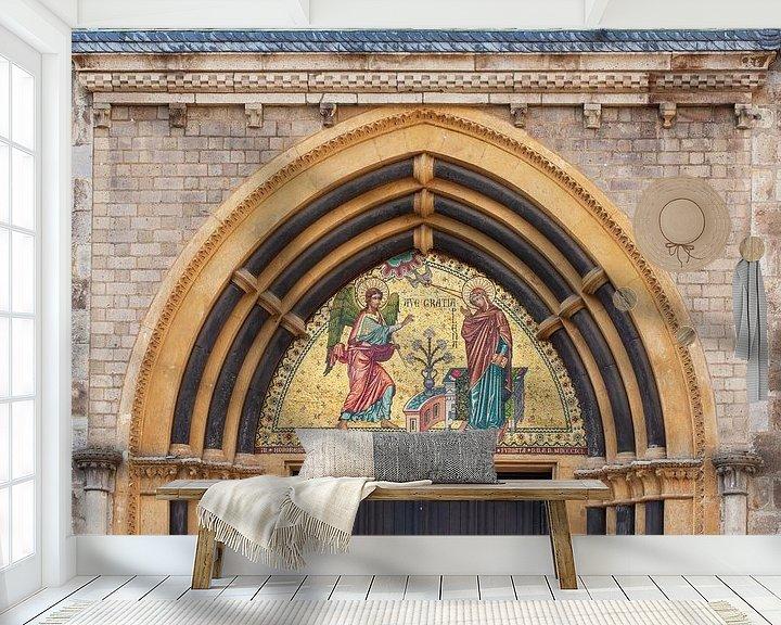 Beispiel fototapete: Mosaik, Eingangsportal, Münsterbasilika, Bonn, Nordrhein-Westfalen, Deutschland, Europa von Torsten Krüger