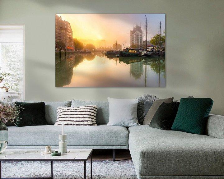 Sfeerimpressie: Oudehaven met mist van Prachtig Rotterdam