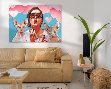 Frauen Katze Mutter #Frauen #catmother von JBJart Justyna Jaszke