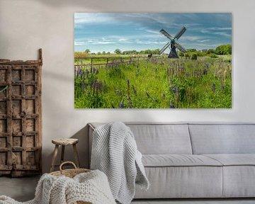 De Follega molen, Laag-Keppel, Gelderland, Nederland van Rene van der Meer