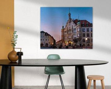 Rathaus Helmstedt kurz vor Sonnenaufgang von Marc-Sven Kirsch