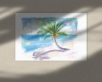Große Palme zum Wegträumen an einem weißen Karibikstrand von Markus Bleichner
