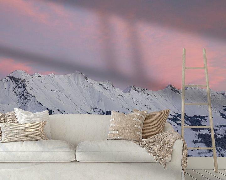 Beispiel fototapete: Sonnenaufgang in den Berner Alpen von Martin Steiner