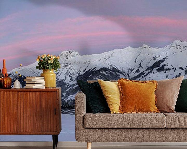 Beispiel fototapete: Sonnenaufgang in den Berner Alpen Panorama von Martin Steiner