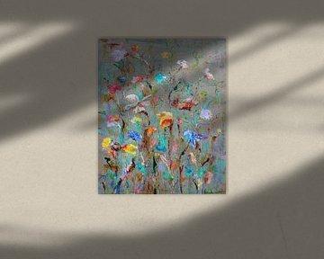 Wild Flowers Flow van Atelier Paint-Ing