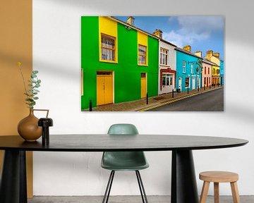 Bunt bemalte Häuser in der Stadt Dingle, Kerry, Irland. von Mieneke Andeweg-van Rijn