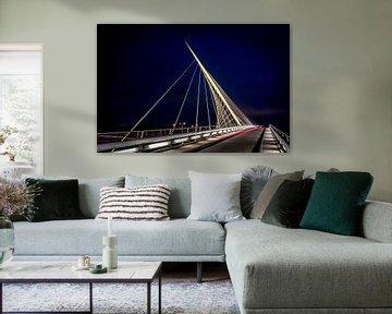 Calatrava-Brücke Die Harfe von Jolanda van Straaten