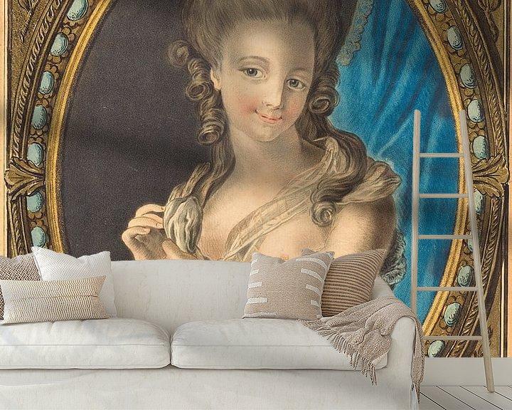 Beispiel fototapete: Louis-Marin Bonnet, Charme des Morgens, 1777 von Atelier Liesjes