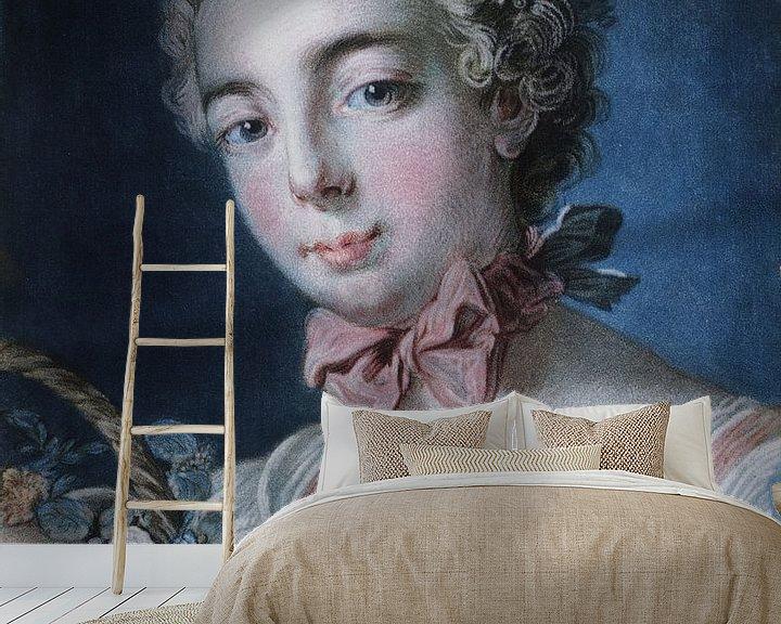 Beispiel fototapete: Kopf der Flora, Louis-Marin Bonnet, 1769 von Atelier Liesjes