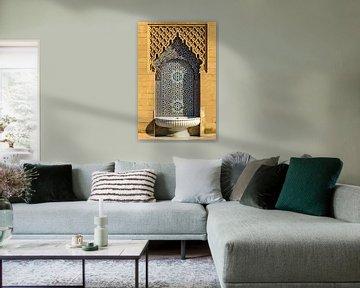 Arabischer Brunnen mit Mosaik an Palast in Rabat Marokko von Dieter Walther