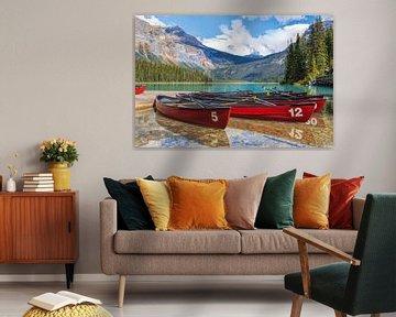 Emerald Lake, Yoho National Park, Rocky Mountains, British Columbia, Kanada. von Mieneke Andeweg-van Rijn